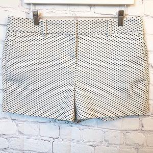 Loft white shorts with black polka dots size 10